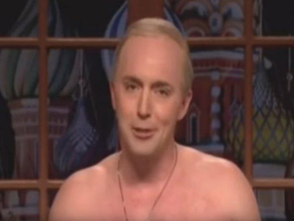 "YouTube ВИДЕО: ""Путин"" с голым торсом уличил Трампа во лжи в эфире NBC"