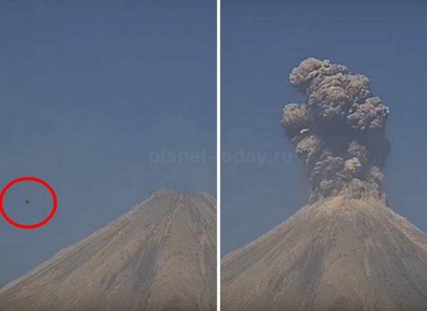 Youtube ВИДЕО: НЛО вызвал мощное извержение вулкана Калима в Мексике