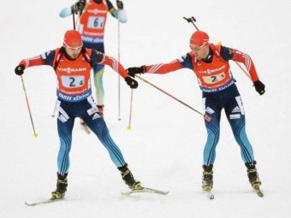 """Биатлон сегодня 11.01.2011, эстафета, мужчины, результаты: Россия упустила """"золото"""", проиграв норвежцам (ВИДЕО)"""