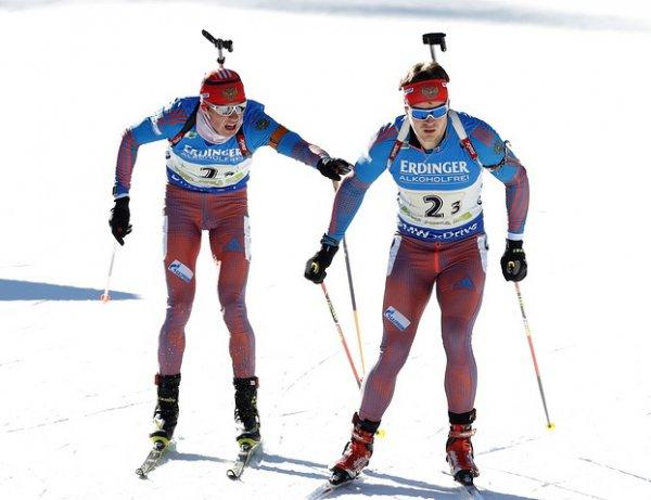 Биатлон сегодня 11.01.2011, эстафета, мужчины, результаты: норвежцы вырвали у России победу на финише (ВИДЕО)