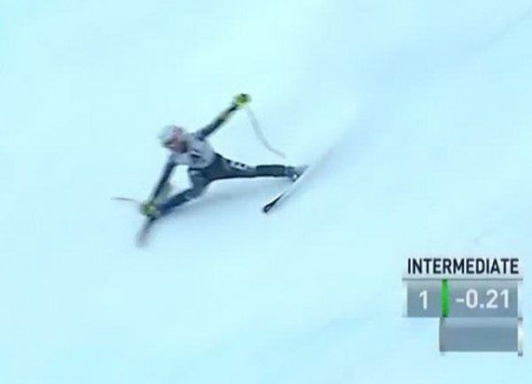 YouTube ВИДЕО: итальянская горнолыжница вылетела с трассы на скорости 100 км/ч (ВИДЕО)