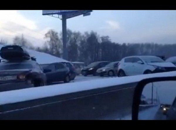 На МКАДе в аварию попало сразу 23 машины