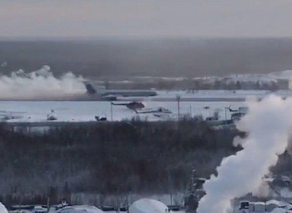 На YouTube появилось ВИДЕО посадки Ту-154 с горящим двигателем в Якутии