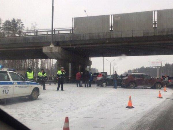 Авария на Минском шоссе 23 февраля 2017: столкнулись 27 машин (ФОТО, ВИДЕО)