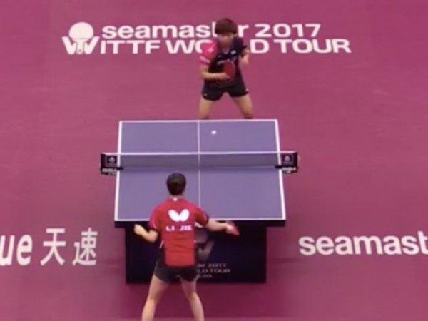 На мировом турнире по настольному теннису установлен новый рекорд (ВИДЕО)