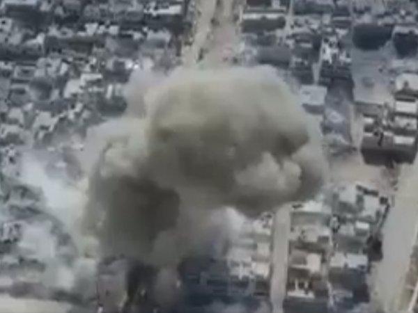 Новости Сирии сегодня 25.02.2017: беспилотник снял на ВИДЕО момент взрыва в сирийском Эль-Бабе