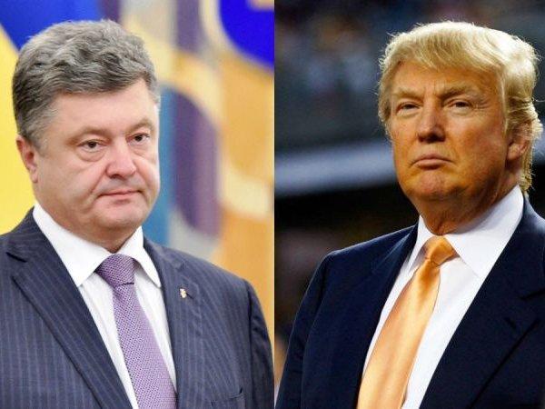 СМИ узнали, о чем Трамп поговорил с Порошенко по телефону