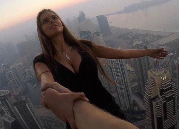 YouTube шокирован ВИДЕО crazy-селфи бывшей девушки Егора Крида на крыше небоскреба