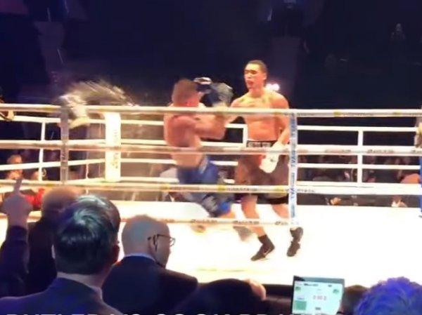 YouTube ВИДЕО: взбешенные зрители отправили боксера в нокаут ведром льда