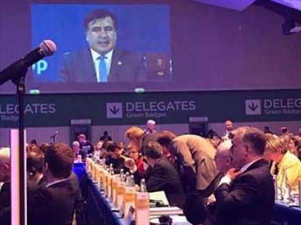 Саакашвили дважды оконфузился на конгрессе на Мальте (ФОТО)