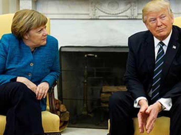 """Отказ Трампа подать руку Меркель """"взорвал"""" соцсети (ФОТО, ВИДЕО)"""