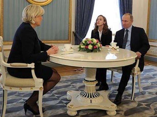 """""""Мы не хотим влиять на выборы во Франции"""": Путин тепло приветствовал Ле Пен"""