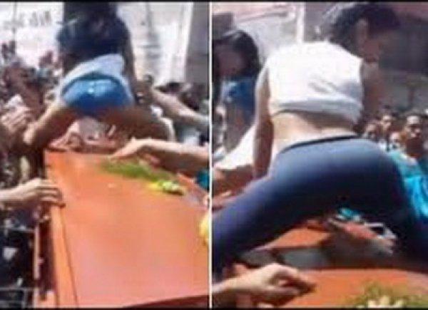 YouTube шокирован ВИДЕО, как девушки станцевали тверк над гробом усопшего