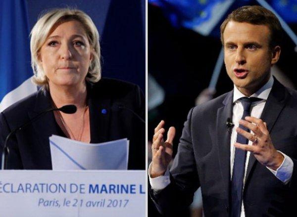 Выборы во Франции 2017: Мари Ле Пен лидирует на выборах президента в первом туре