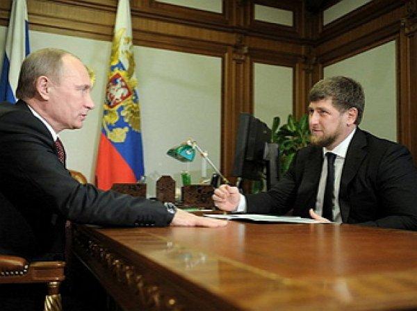 """Кадыров обсудил с Путиным """"провокационные"""" публикации о задержаниях в Чечне"""