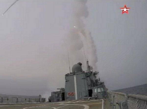 Опубликовано видео стрельб зенитными ракетами с новейшего российского фрегата