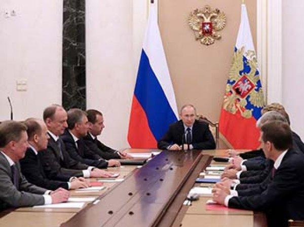 Путин созвал совещание Совбеза РФ из-за встречи Лаврова с Трампом
