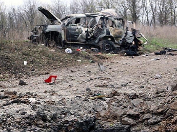 В Сети опубликовано видео подрыва машины ОБСЕ в ЛНР