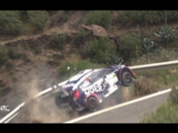 YouTube ВИДЕО: автогонщик чудом не сорвался со скалы, зависнув над пропастью