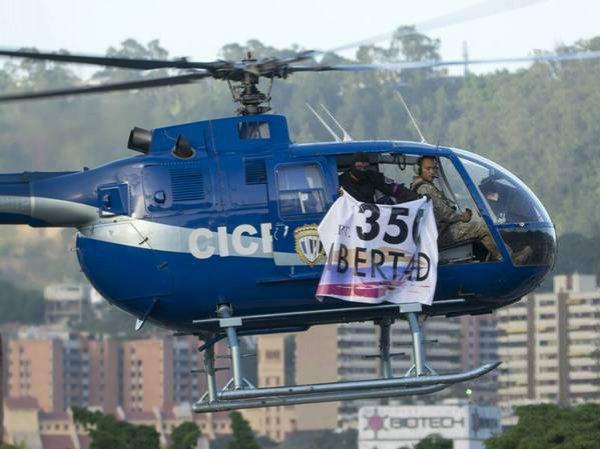 В Венесуэле полицейский угнал вертолет и начал восстание против Мадуро (ФОТО, ВИДЕО)