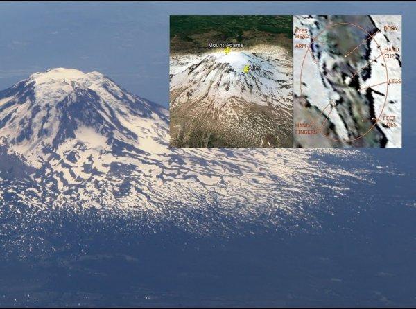 На вершины горы Адамс в США уфологи нашли замороженного гуманоида (ВИДЕО)