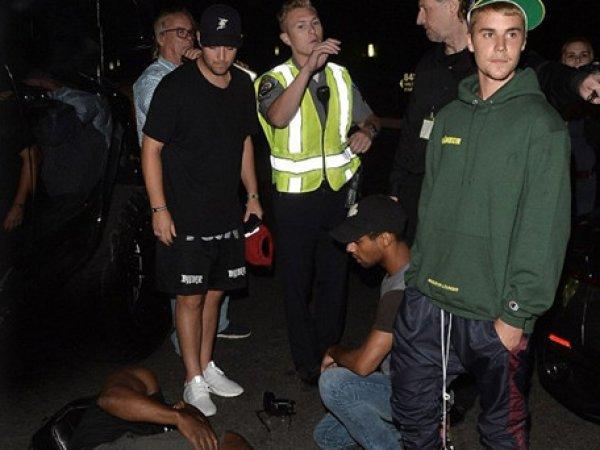 В США Джастин Бибер сбил журналиста после посещения церкви