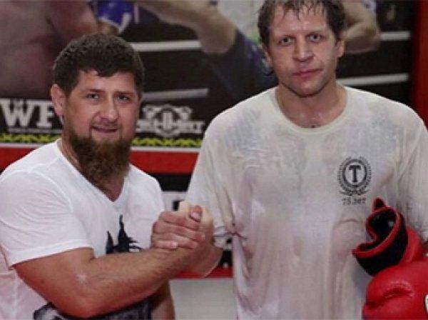 Емельяненко и Рамзан Кадыров провели совместную тренировку