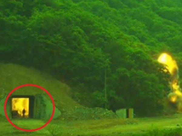 В Сети разглядели заживо горящего человека на ВИДЕО с ракетных учений Южной Кореи