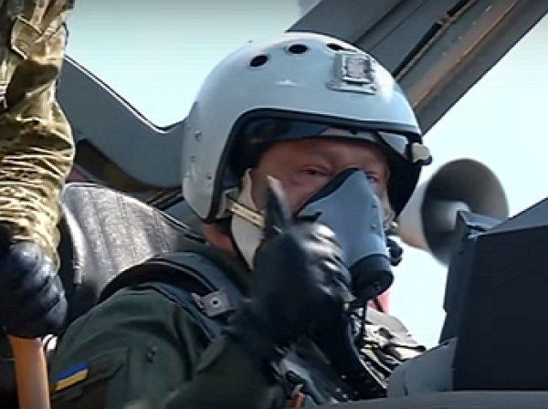 В Сети посмеялись над полетом Порошенко на МиГ-29