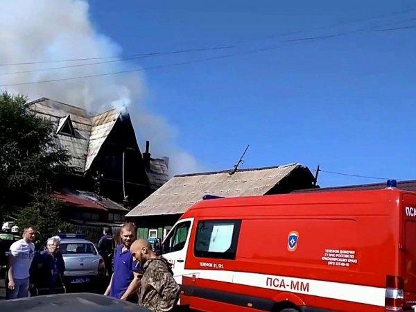 Пожар в доме престарелых в Красноярске 28 августа 2017 унес жизни четырех человек (ВИДЕО)