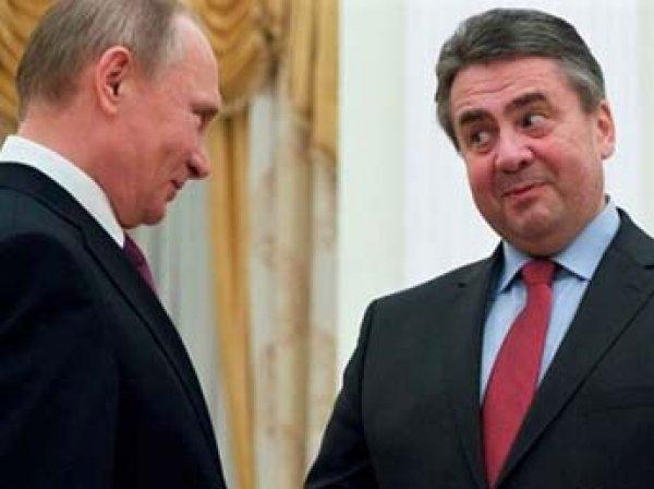 Глава МИД Германии язвительно прокомментировал встречу Путина и Шредера
