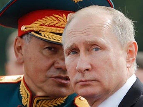 На репетиции парада в честь Дня ВМФ Шойгу спутали с Путиным (ВИДЕО)