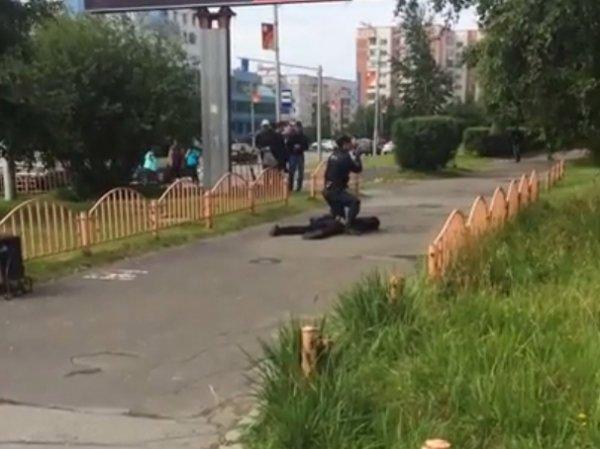 Опубликовано ВИДЕО задержания преступника, устроившего резню в Сургуте