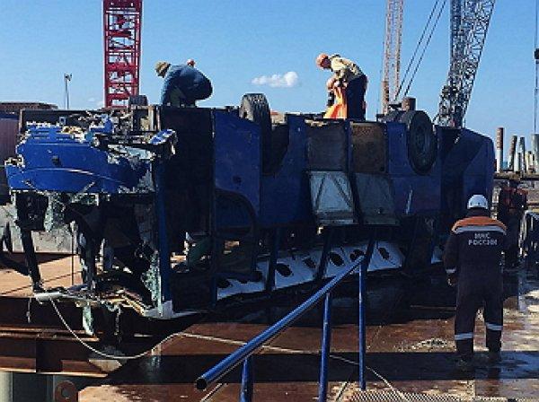Названа причина падения автобуса в море на Кубани