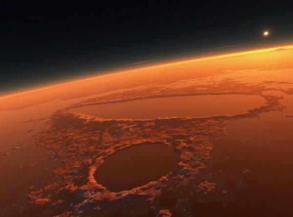 На дне озера на Марсе уфологи нашли обломки НЛО (ФОТО)