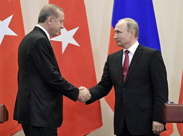 Путин прибыл в Турцию с визитом к Эрдогану