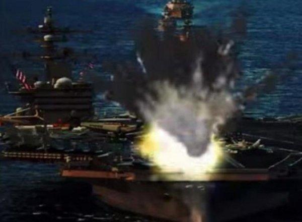 """Северная Корея """"уничтожила"""" на ВИДЕО авианосец и бомбардировщик США"""