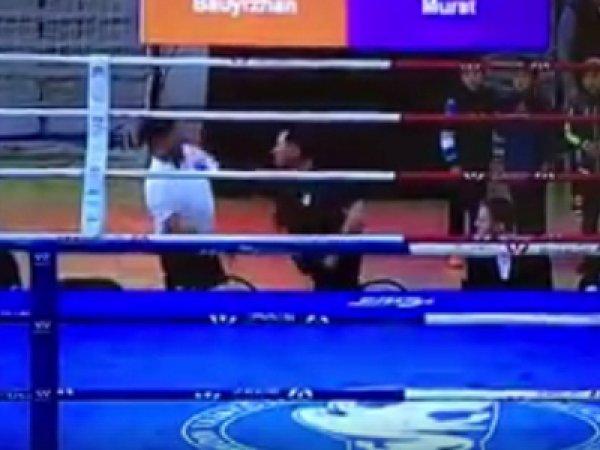 Опубликовано видео драки между тренером и судьей после матча Кубка федерации бокса Казахстана