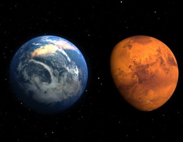«Умрет всё»: ученые рассказали о грядущем столкновении Земли и Марса