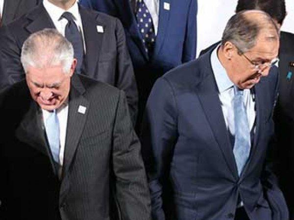 """На встрече с Тиллерсоном Лавров назвал США """"незванным гостем"""""""