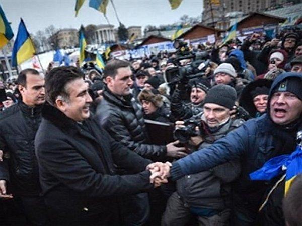 В Киеве начались столкновения митингующих с полицией