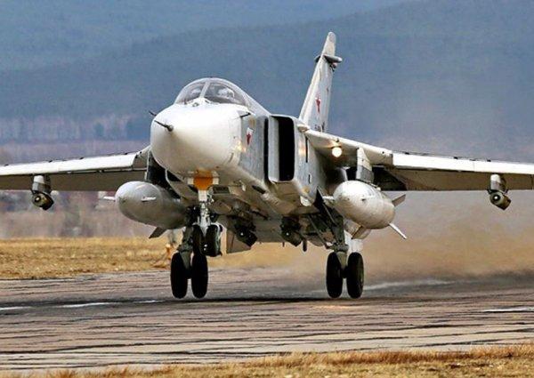 В Сирии при взлете разбился российский Су-24: экипаж погиб