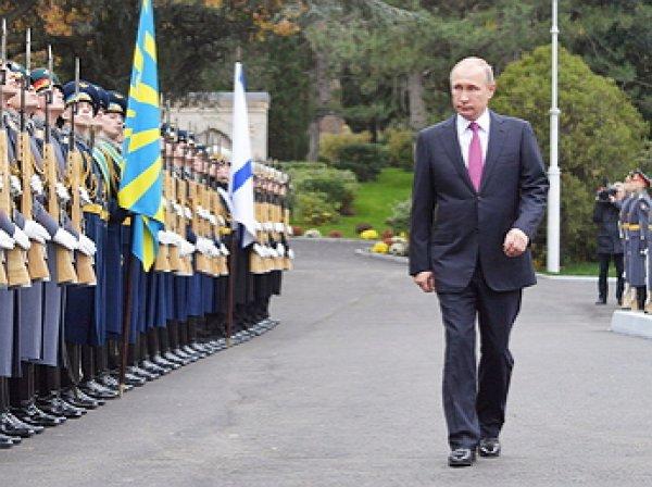 Киев выразил протест в связи с визитом Путина в Крым