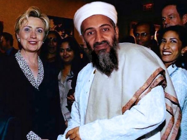 Фото Бен Ладена с Хиллари Клинтон, о котором рассказала Захарова, оказалось фейком