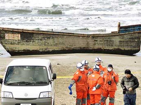 К берегам Японии прибило лодку с восемью скелетами