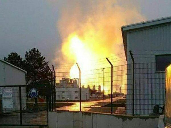 Момент мощного взрыва на газопроводе в Австрии попал на видео