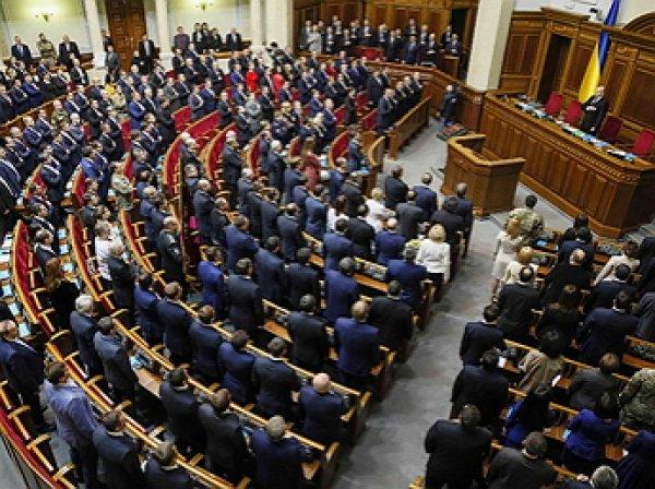 Заседание украинских депутатов внезапно прервал гимн России