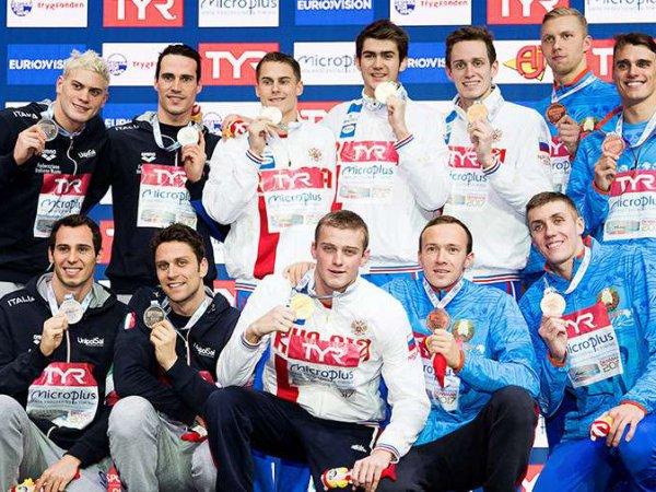 Российские пловцы победила в общекомандном зачете на чемпионате Европы