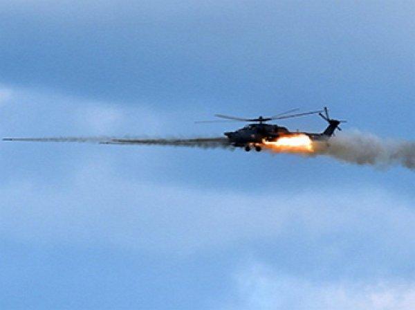 Вертолет Ми-28 уничтожил танк ИГИЛ с 3 км