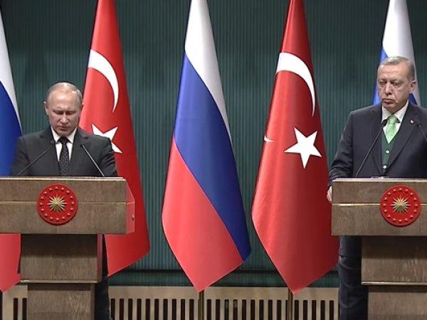 Эрдоган по-русски поблагодарил Путина